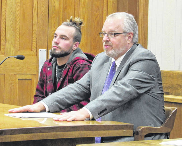 Gary Williams III (left, with defense attorney Dave Rohrer) pleaded not guilty to aggravated possession of drugs in court Monday. He was one of four people arraigned on various charges.