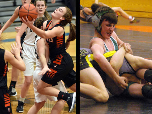 Versailles girls basketball player Kami McEldowney and Greenville wrestler Austin Lacey have been named this week's Daily Advocate athletes of the week. To nominate a Darke County athlete for athlete of the week, contact Sports Editor Kyle Shaner at 937-569-4316 or kshaner@dailyadvocate.com.