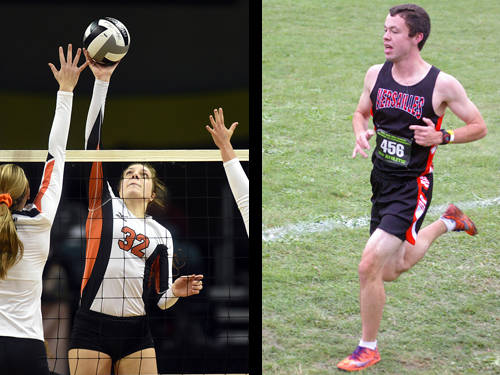 Versailles volleyball player Danielle Winner has been named The Daily Advocate's girls fall sports athlete of the year, and Versailles boys cross country runner Joe Spitzer has been named The Daily Advocate's boys fall sports athlete of the year.