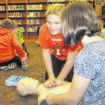 Versailles elementary students learn CPR