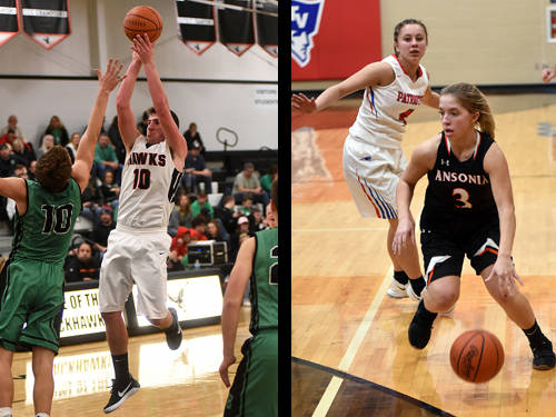 Mississinawa Valley boys basketball player Ethan Bowman and Ansonia girls basketball player Trinity Henderson have been named this week's Daily Advocate athletes of the week. To nominate a Darke County athlete for athlete of the week, contact Sports Editor Kyle Shaner at 937-569-4316 or kshaner@dailyadvocate.com.