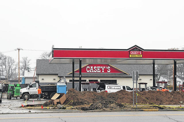 Construction at the new Casey's General Store in Union City should be completed by the end of January. The convenience store/gas station chain is currently in negotiations to open locations in Greenville and Versailles.