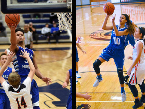 Franklin Monroe boys basketball player Ethan Conley and Franklin Monroe girls basketball player Corina Conley have been named this week's Daily Advocate athletes of the week. To nominate a Darke County athlete for athlete of the week, contact Sports Editor Kyle Shaner at 937-569-4316 or kshaner@dailyadvocate.com.