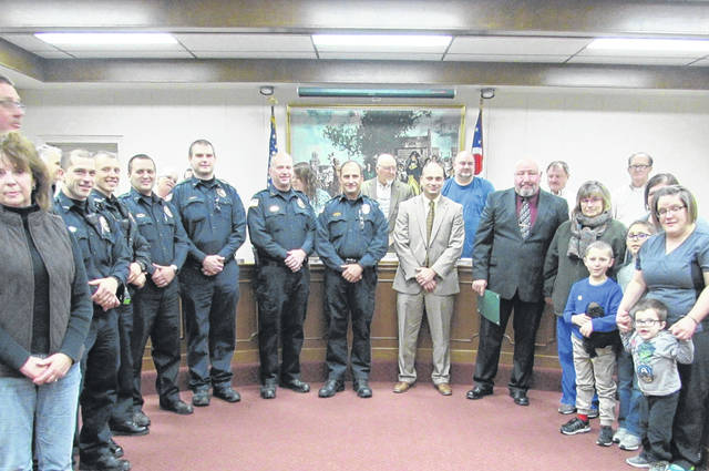 City Council members honored retired Police Chief Dennis Butts, mourned the loss of two of Greenville's citizens, and passed ordinances dealing with 2018 fund appropriations at their meeting Tuesday night.