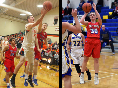 Ansonia boys basketball player Hunter Muir and Tri-Village girls basketball player Lissa Siler have been named this week's Daily Advocate athletes of the week. To nominate a Darke County athlete for athlete of the week, contact Sports Editor Kyle Shaner at 937-569-4316 or kshaner@dailyadvocate.com.