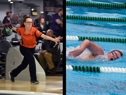 Versailles girls swimmer Haddi Treon and Tri-Village boys swimmer Aubrey Morris have been named this week's Daily Advocate athletes of the week. To nominate a Darke County athlete for athlete of the week, contact Sports Editor Kyle Shaner at 937-569-4316 or kshaner@dailyadvocate.com.