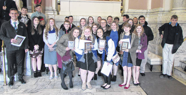 Franklin Monroe Career-Tech students attended the Region 3, Business Professionals of America (BPA) Regional Awards Presentation yesterday, at St. Clair Memorial Hall.