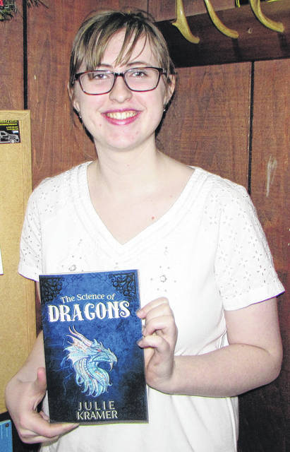 """Ansonia High School senior Julie Kramer just received her first book """"The Science of Dragons"""", published by CreateSpace Independent Publishing Platform, January 24. The book is available on Amazon.com, and www.facebook.com/julie.kramer.733"""