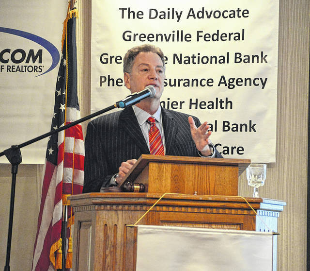 Donn M. Goodman, senior vice president of Atalanta Sosnoff, was the featured speaker at the Darke County Chamber of Commerce's 11th Annual Groundhog Day Breakfast Friday. He gave a financial update, and spoke about new technologies in healthcare, transportation, retail and agriculture.