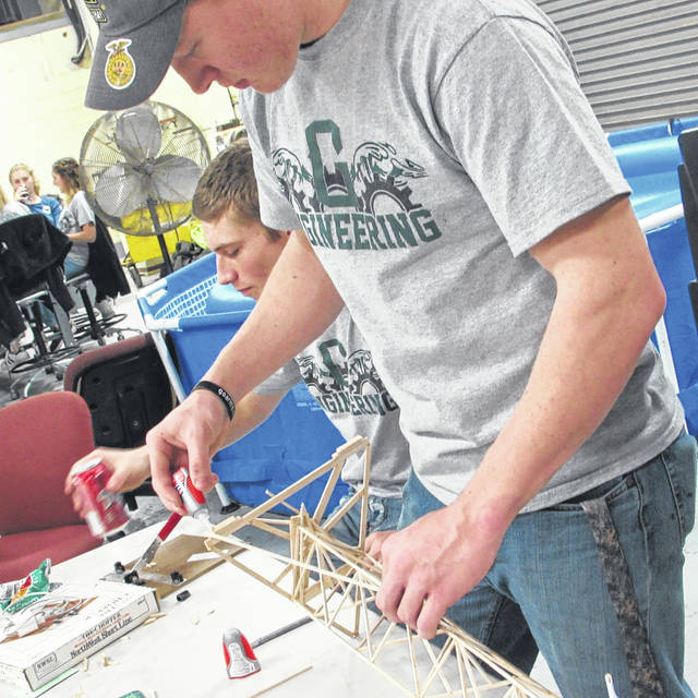 Engineering tech prep students at Greenville High School's Career Technology Center took part in their yearly balsa wood competition in celebration of National Engineering Week Friday.