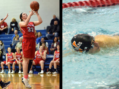 Tri-Village girls basketball player Maddie Downing and Versailles boys swimmer Ryan Subler have been named this week's Daily Advocate athletes of the week. To nominate a Darke County athlete for athlete of the week, contact Sports Editor Kyle Shaner at 937-569-4316 or kshaner@dailyadvocate.com.