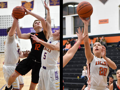 Arcanum boys basketball player Carter Gray and Arcanum girls basketball player Kayla O'Daniel have been named this week's Daily Advocate athletes of the week. To nominate a Darke County athlete for athlete of the week, contact Sports Editor Kyle Shaner at 937-569-4316 or kshaner@dailyadvocate.com.