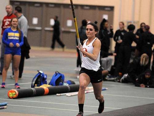 Greenville alumna Harmony Kolling, a track at field athlete at Otterbein University, was named the Ohio Athletic Conference field athlete of the week.