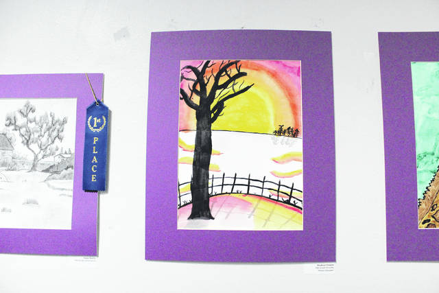 Elementary school students from throughout Darke County were invited to submit art work for the exhibit.