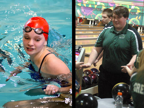 Tri-Village girls swimmer Edie Morris and Greenville boys bowler Cullen Blinn have been named this week's Daily Advocate athletes of the week. To nominate a Darke County athlete for athlete of the week, contact Sports Editor Kyle Shaner at 937-569-4316 or kshaner@dailyadvocate.com.
