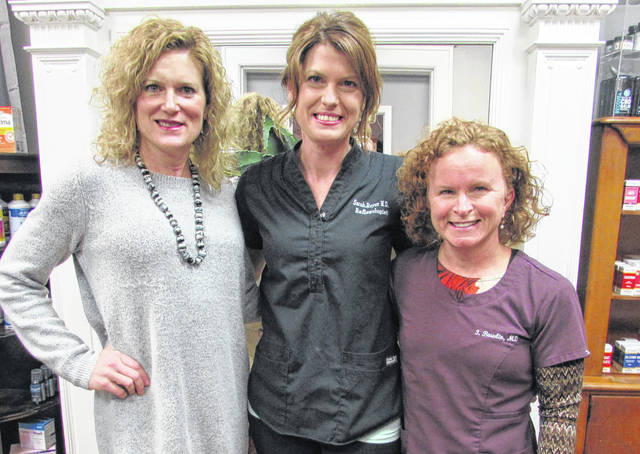 """The Natural Path of Greenville will hold a full-day """"Retreat for Self"""" Saturday, March 3, from 8:30 a.m. to 4:30 p.m. Pictured (from left to right): Angela Sipe, executive director, State of the Heart Care; Sarah Royer, owner, Natural Path of Greenville; Dr. Julia Bowlin, physician."""