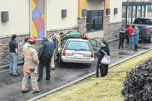 Emergency crews were called to the scene of a single-vehicle crash at Taco Bell, 1120 East Russ Road, Greenville, just before 1 p.m. Wednesday. It is believed the vehicle drove into the building from the nearby McDonald's parking lot. No information is yet available on the identity of the driver or the condition of the driver.