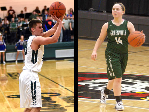 Greenville boys basketball player Noah Walker and Greenville girls basketball player Morgan Gilbert have been named this week's Daily Advocate athletes of the week. To nominate a Darke County athlete for athlete of the week, contact Sports Editor Kyle Shaner at 937-569-4316 or kshaner@dailyadvocate.com.