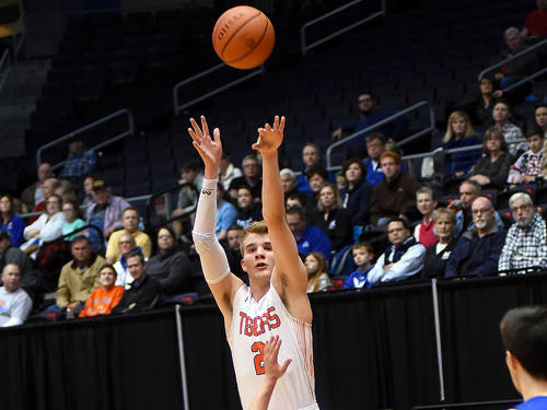 Versailles senior Justin Ahrens was named the District 9 Division III boys basketball player of the year by the Ohio High School Basketball Coaches Association.