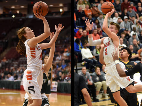 The Daily Advocate's girls basketball player of the year is Versailles' Kami McEldowney, and The Daily Advocate's boys basketball player of the year is Versailles' Justin Ahrens.