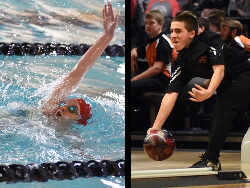 Tri-Village girls swimmer Lucie Morris and Mississinawa Valley boys bowler Zac Longfellow have been named this week's Daily Advocate athletes of the week. To nominate a Darke County athlete for athlete of the week, contact Sports Editor Kyle Shaner at 937-569-4316 or kshaner@dailyadvocate.com.