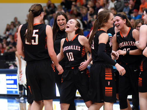 The Versailles girls basketball team is back in the Ohio High School Athletic Association state final four and looking to bring home the Division III state championship after falling just short last year.
