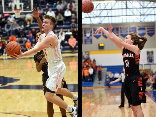 Versailles boys basketball player Justin Ahrens has been named The Daily Advocate's boys winter sports athlete of the year, and Versailles girls basketball player Kami McEldowney has been named The Daily Advocate's girls winter sports athlete of the year.