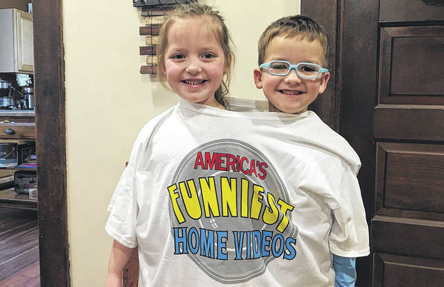 Bryn and Caden Baker, both 5, recently starred in a humorous home movie that wound up being featured on the television show America's Funniest Videos.