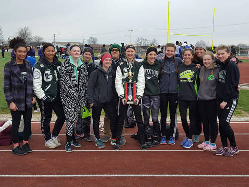 The Greenville girls track and field team finished as the runner-up at the Tippecanoe Invitational.