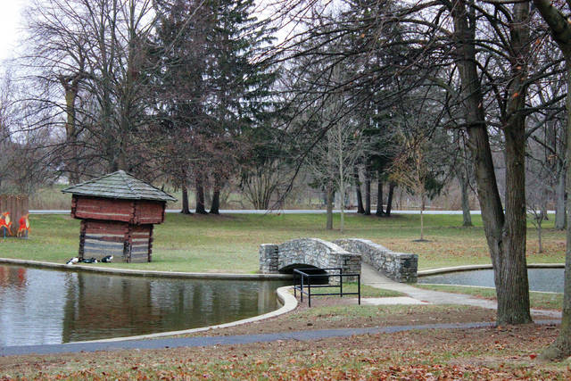 Local nonprofit Friends of the Darke County Parks plans to use part of a grant from the Ohio Department of Natural Resources to resotre the stockade towers near the Greenville City Park's pond.