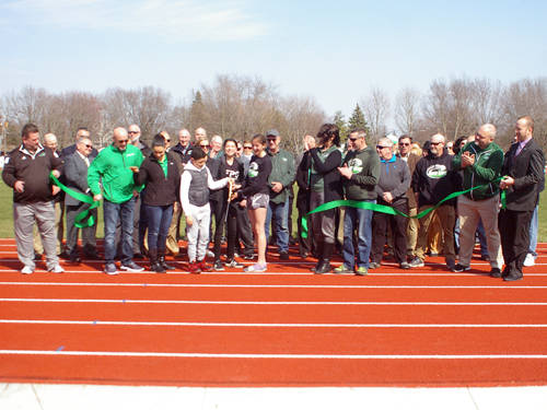 Greenville held the ribbon cutting for its Jennings Center Track and Field Complex on Wednesday.