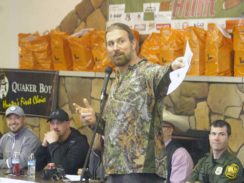 Greenville native Matt Light led 16 Darke County boys and girls in the Light Foundation's youth wild turkey hunt.