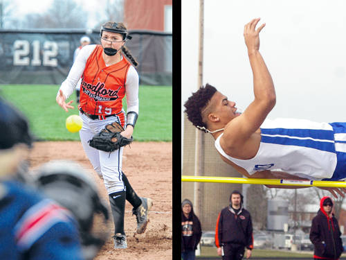 Bradford softball player Skipp Miller and Tri-Village boys track and field athlete Austin Bruner have been named this week's Daily Advocate athletes of the week. To nominate a Darke County athlete for athlete of the week, contact Sports Editor Kyle Shaner at 937-569-4316 or kshaner@dailyadvocate.com.