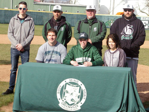 Greenville senior Owen Paulus committed to play baseball at Mount Vernon Nazarene University on Saturday.