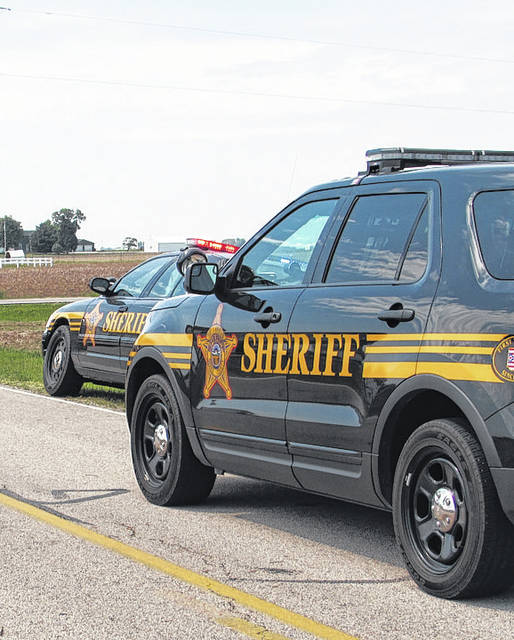 Advocate photo Four Darke County Sheriff Deputies and a man being booked into the Darke County Jail were sent to the hospital Tuesday after coming in contact with an unknown white powder.