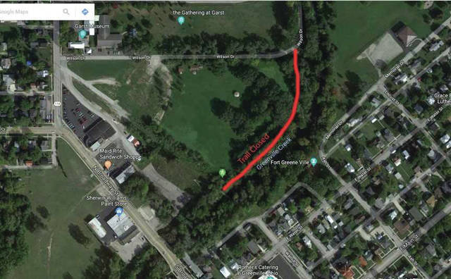 Courtesy photo There will be a trail closure at Prairie Ridge Meadow, part of the Darke County Park District located between North Broadway and Wilson Drive until late autumn.