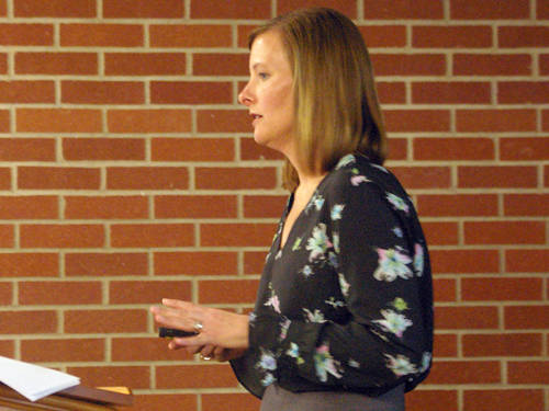 Attorney Amy C. Mitchell of Auman, Mahan & Furry in Dayton spoke about medical marijuana laws and the #MeToo movement at a Darke County Chamber of Commerce event.
