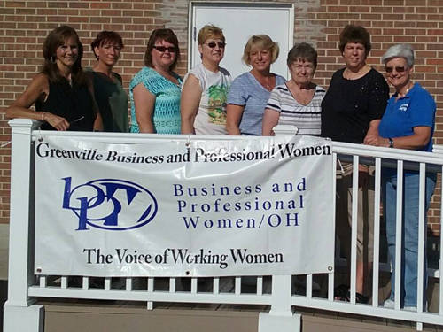 The Greenville Business & Professional Women's club will host a barbecue chicken on June 20. Pictured (l-r) are 2017 BPW members Susan Fowble, Deb Niekamp, Vicki Cost, Gail Snyder, Leigh Fletcher, Marilyn Emmons (deceased), Dorothy Poeppelman and Peggy Foutz.