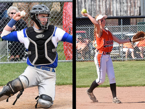 Franklin Monroe baseball player Zach Cable and Bradford softball player Emma Canan have been named this week's Daily Advocate athletes of the week. To nominate a Darke County athlete for athlete of the week, contact Sports Editor Kyle Shaner at 937-569-4312 or kshaner@dailyadvocate.com.