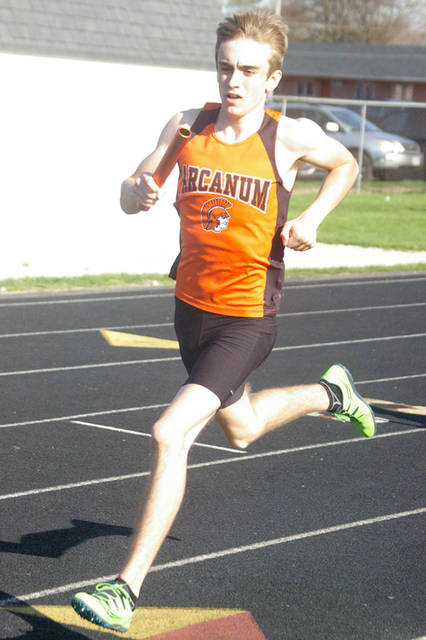 Arcanum senior Chance Klipstine will run in the 4x800 meter relay and 800 meter run during the Ohio High School Athletic Association state track and field meet.