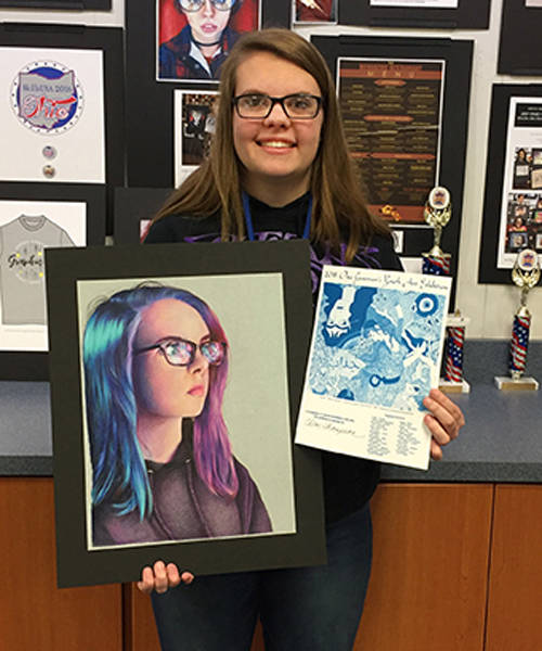 Junior Chloe Thompson of Tippecanoe was a top 300 winner in the 2018 Ohio Governor's Youth Art Exhibition. Each top 300 winner has earned a $10,000 scholarship to the School of Advertising Art in Kettering in addition to other scholarships from participating colleges of their choice.
