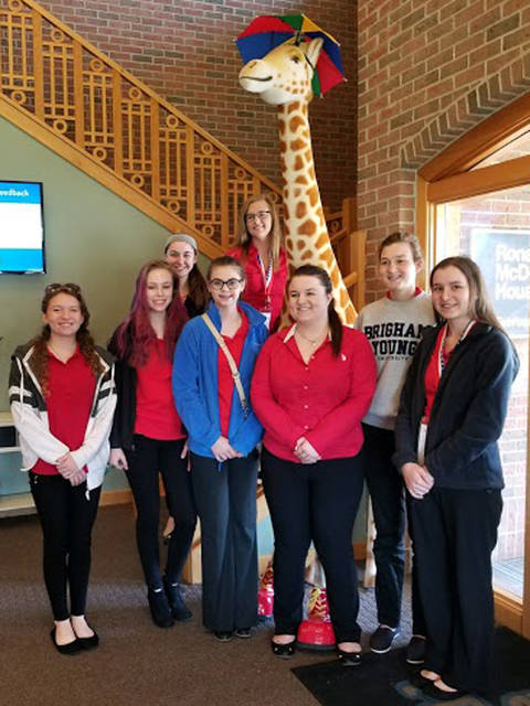 The Versailles FCCLA donated approximately 125 pounds of pop tabs to the Ronald McDonald House in Dayton.