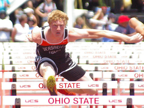 Versailles senior Josh Steinbrunner will aim to defend his 110 meter Division II state championship during the Ohio High School Athletic Association state track and field meet.