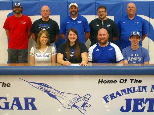 Franklin Monroe senior Kinsey Goins committed to the Berea College softball team on Friday afternoon.
