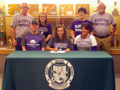 Greenville senior Maddy Baker committed to the Bluffton University women's soccer team on Thursday evening.