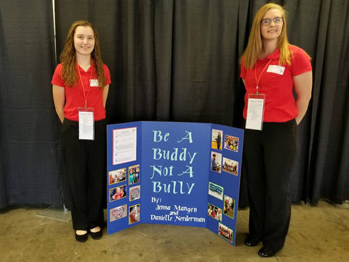 Versailles FCCLA members Jenna Mangen and Danielle Nerderman competed at the state level on April 26-27.