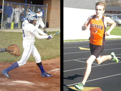Franklin Monroe softball player Kennedy Morris and Arcanum boys track and field athlete Chance Klipstine have been named this week's Daily Advocate athletes of the week. To nominate a Darke County athlete for athlete of the week, contact Sports Editor Kyle Shaner at 937-569-4312 or kshaner@dailyadvocate.com.