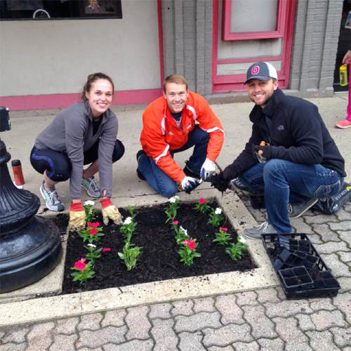 Volunteers will plant more than 70 locations throughout the downtown district during Main Street Greenville's Planting Day.