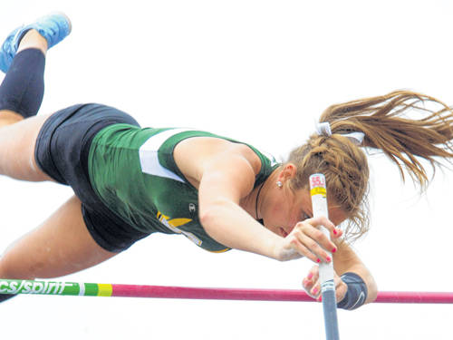 Greenville sophomore Riley Hunt will compete in the Division I girls pole vault during the Ohio High School Athletic Association state track and field meet.