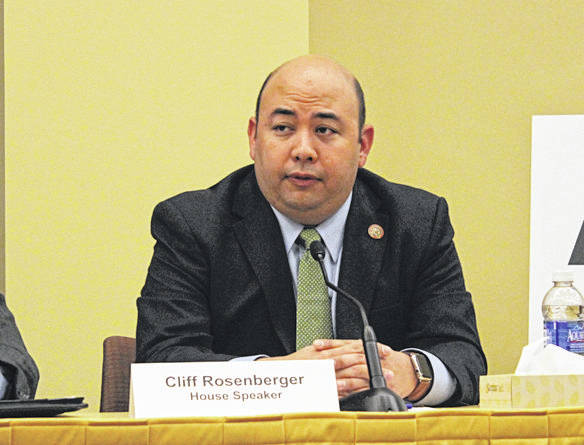 A home and storage unit belonging to former Ohio House Speaker Cliff Rosenberger was searched by FBI agents Wednesday. Rosenberger's lawyer, David Axelrod, said his client was cooperating with authorities.